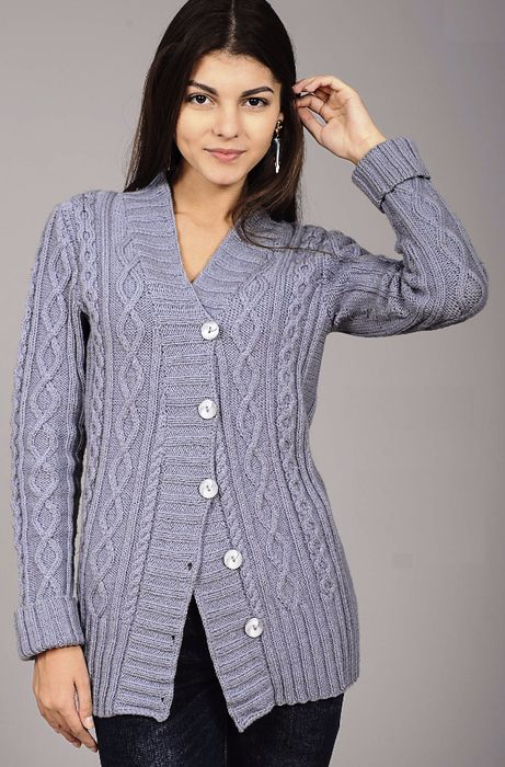 ♤♤ FREE PATTERN ♤♤ | Knitted Long Sleeved Cardigans | Pinterest ...