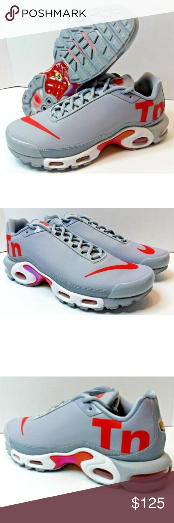 ab105071b13 Nike Air Max Plus TN Mercurial Mens Running Shoes Nike Air Max Plus TN  Mercurial Wolf Grey Red Running Mens Size 9 AQ1088-001 Stretch synthetic  upper ...