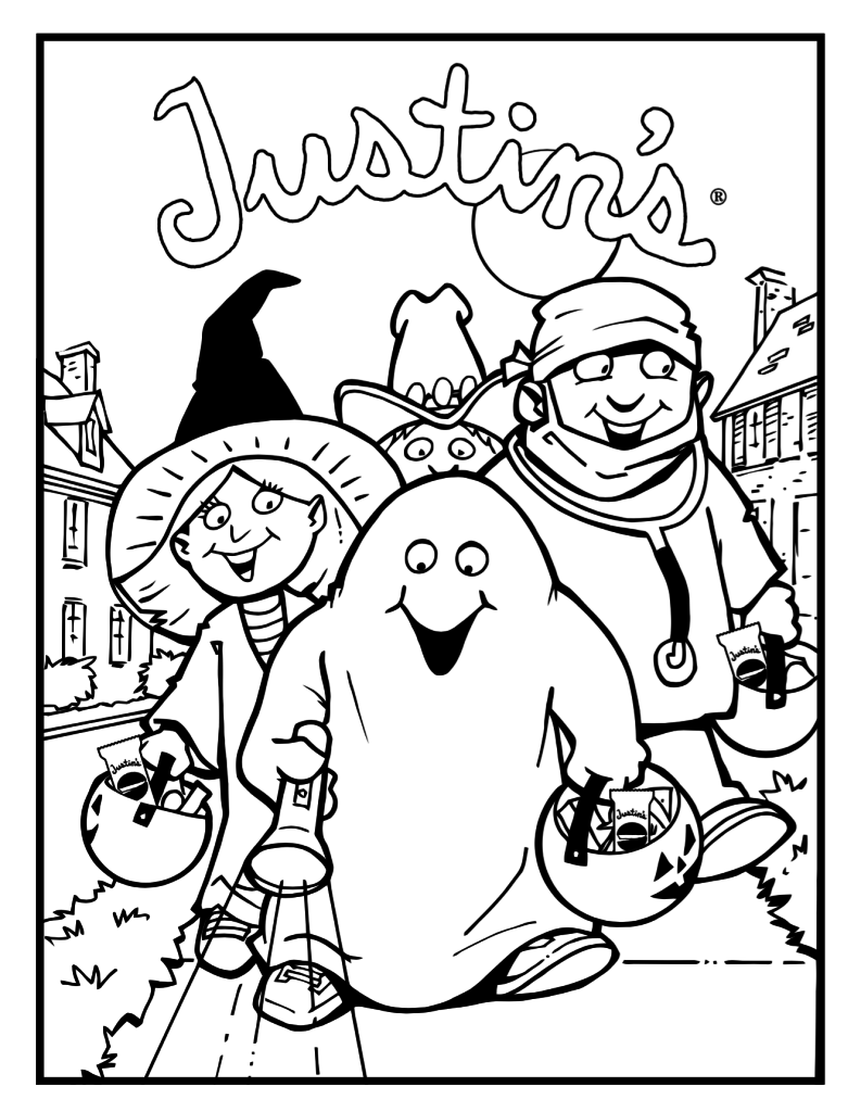 halloween coloring page trick treat coloring pages pinterest