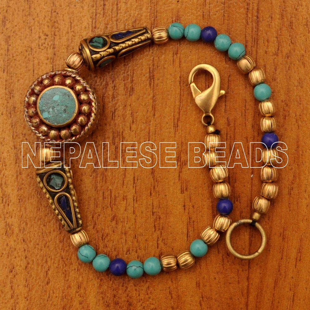 Diy261 tibetan nepalese lapis turquoise brass do it yourself diy261 tibetan nepalese lapis turquoise brass do it yourself bracelet diy kits eksha diybraceletkits solutioingenieria Gallery