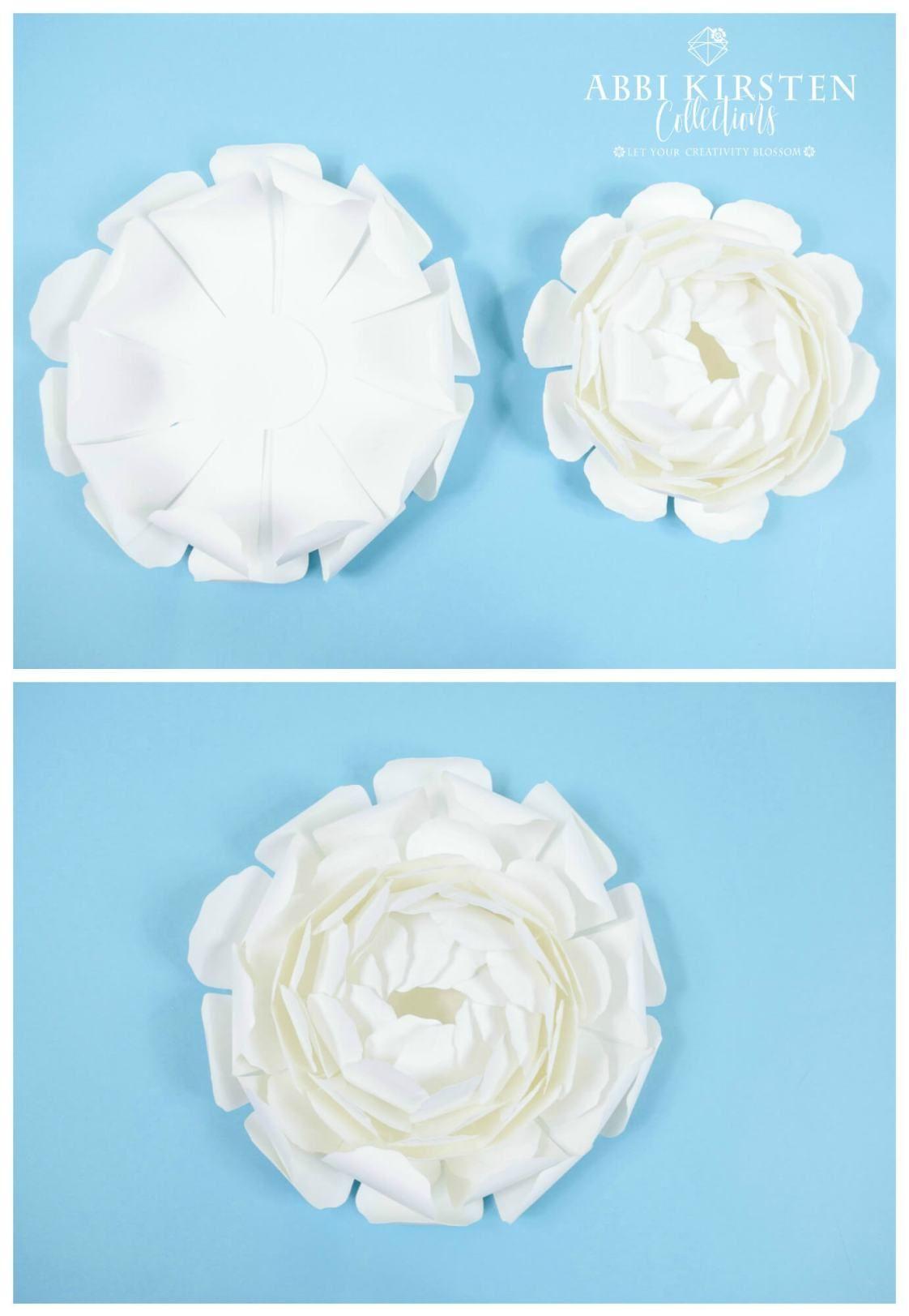 Peony Paper Flower Tutorial Diy Giant Snow Peony Paper Flowers