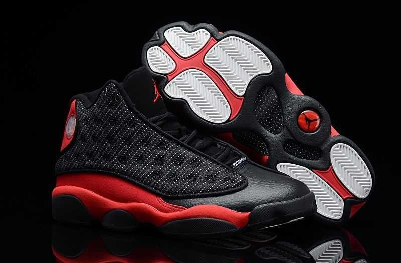 209f5bd5a7f Homme Nike Air Jordan 13 Supper AAA Noir Blanc Rouge [J45r] | Nike ...