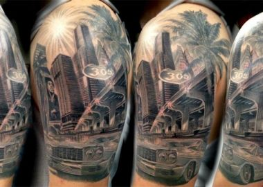 miami dolphins tattoo | ... Mike V. For Getting The305.com Logo ...