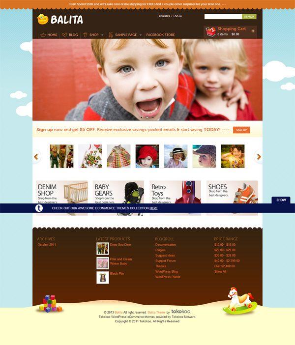 Balita (Free E-Commerce WordPress Theme)   Templates   Pinterest