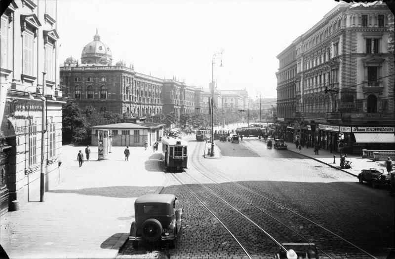 Wien 6 Mariahilferstraße 1930 Blick über Die Zweierlinie Richtung