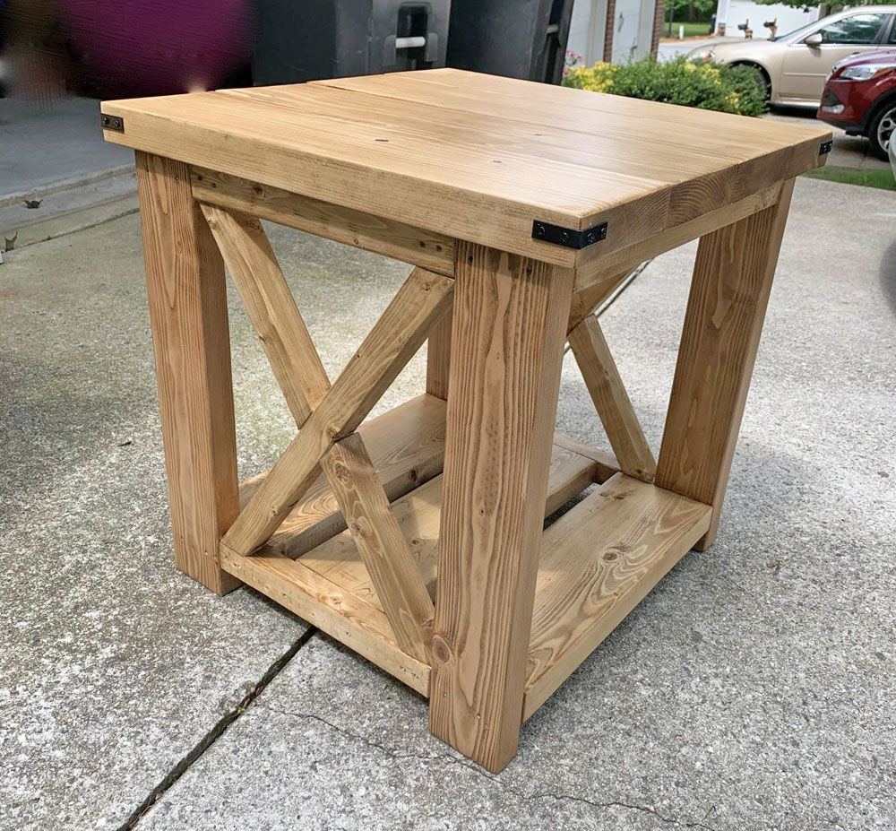 Farmhouse Side Table in 2020 Rustic side table, Rustic