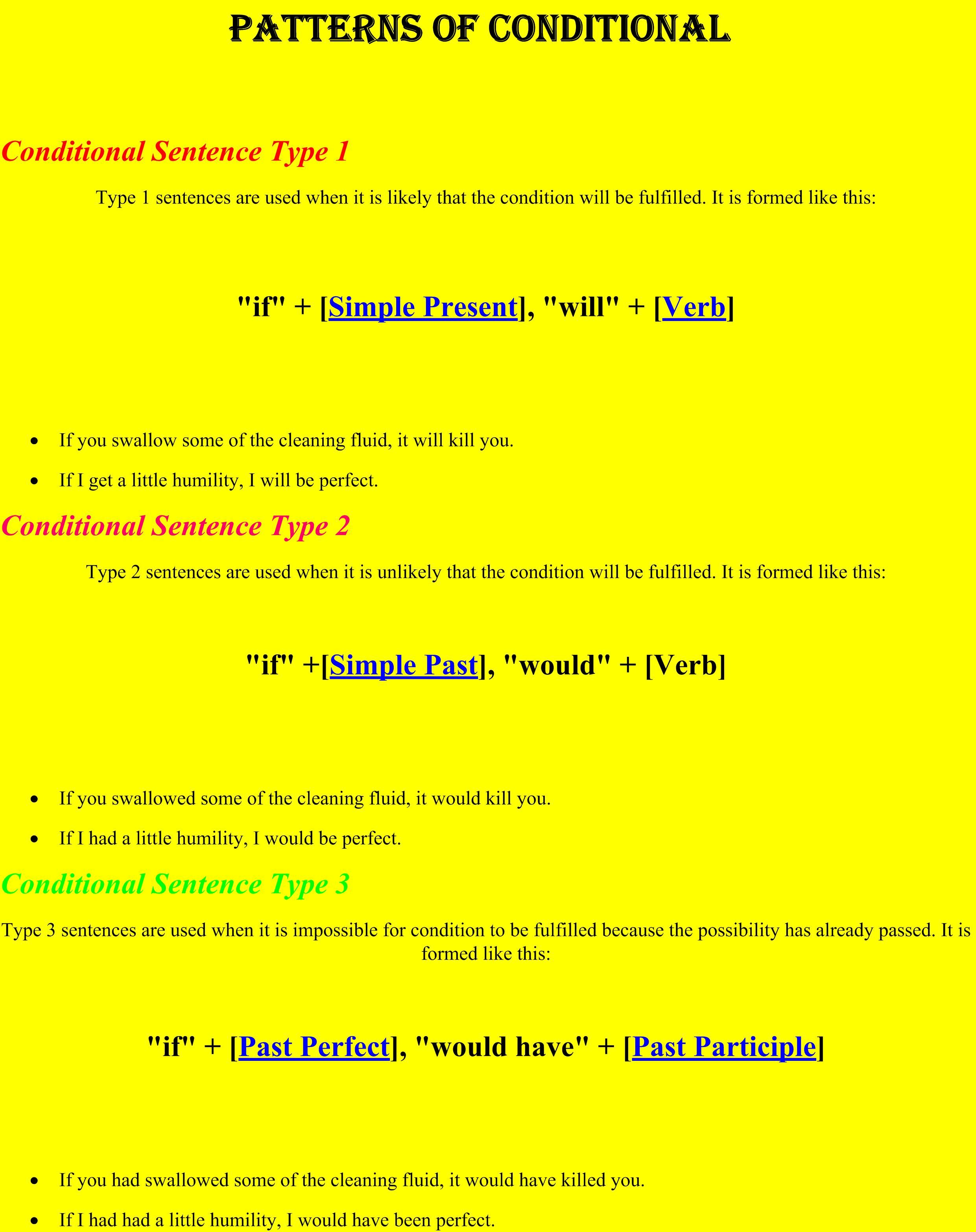 Pattern Of Conditionals