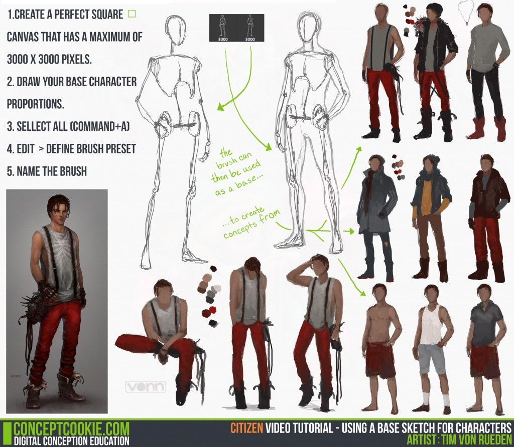 tutorial using a base sketch for character concept art tutorial using a base sketch for character concept art cgcookie