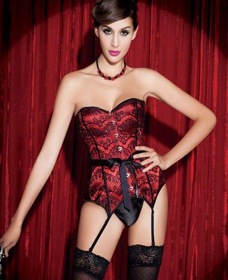 Red & Black corset