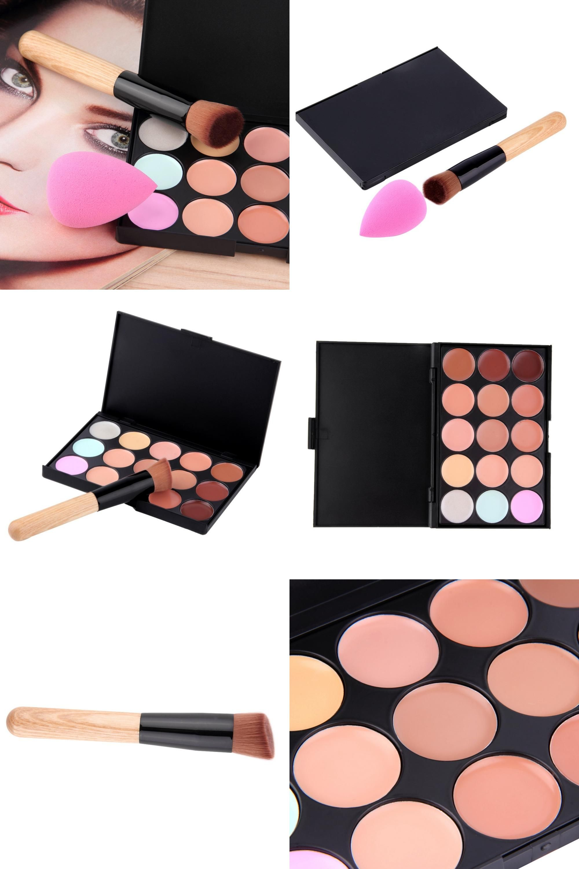[Visit to Buy] 100 Pro 15 colors Concealer Facial Face