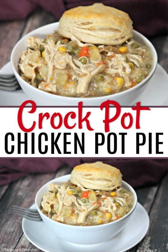 SLOW COOKER CHICKEN POT PIE images