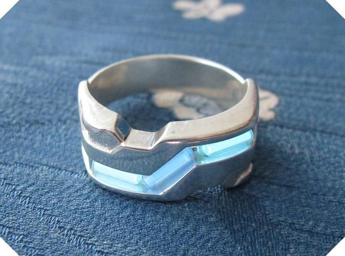 Us10 Ring Xxi Tritium Silver By Tofty On Shapeways Rings Tritium Cheap Silver Rings