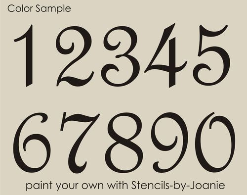 STENCIL Paris French Script Numbers Bride Lake House Address Old ...
