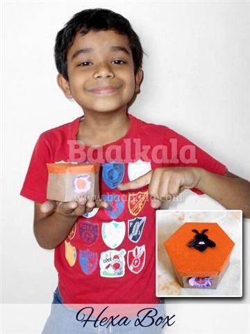 @Baalkala 's #honeybees #craft Session :: #hexa #box craft - Siddharth