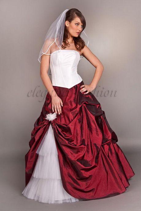 Brautkleider Weiss Rot Hochzeit Brautkleid Braut Und Kleider