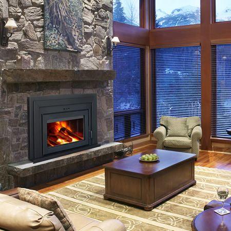Supreme Fusion Wood Burning Fireplace Insert | WoodlandDirect.com ...