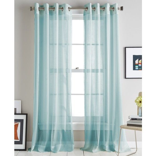 Dkny Soho Stripe 50 X 63 Curtain Panel 18 Liked On Polyvore