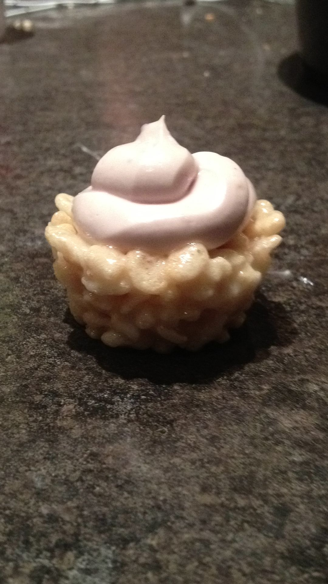Mini rice crispy cupcake rice crispy food desserts