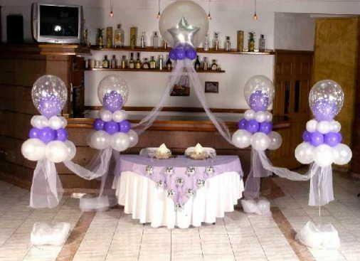 Decoracion Para Bodas Sencillas En Casa 7 Globos Torres En 2018 - Decoraciones-para-bodas-sencillas