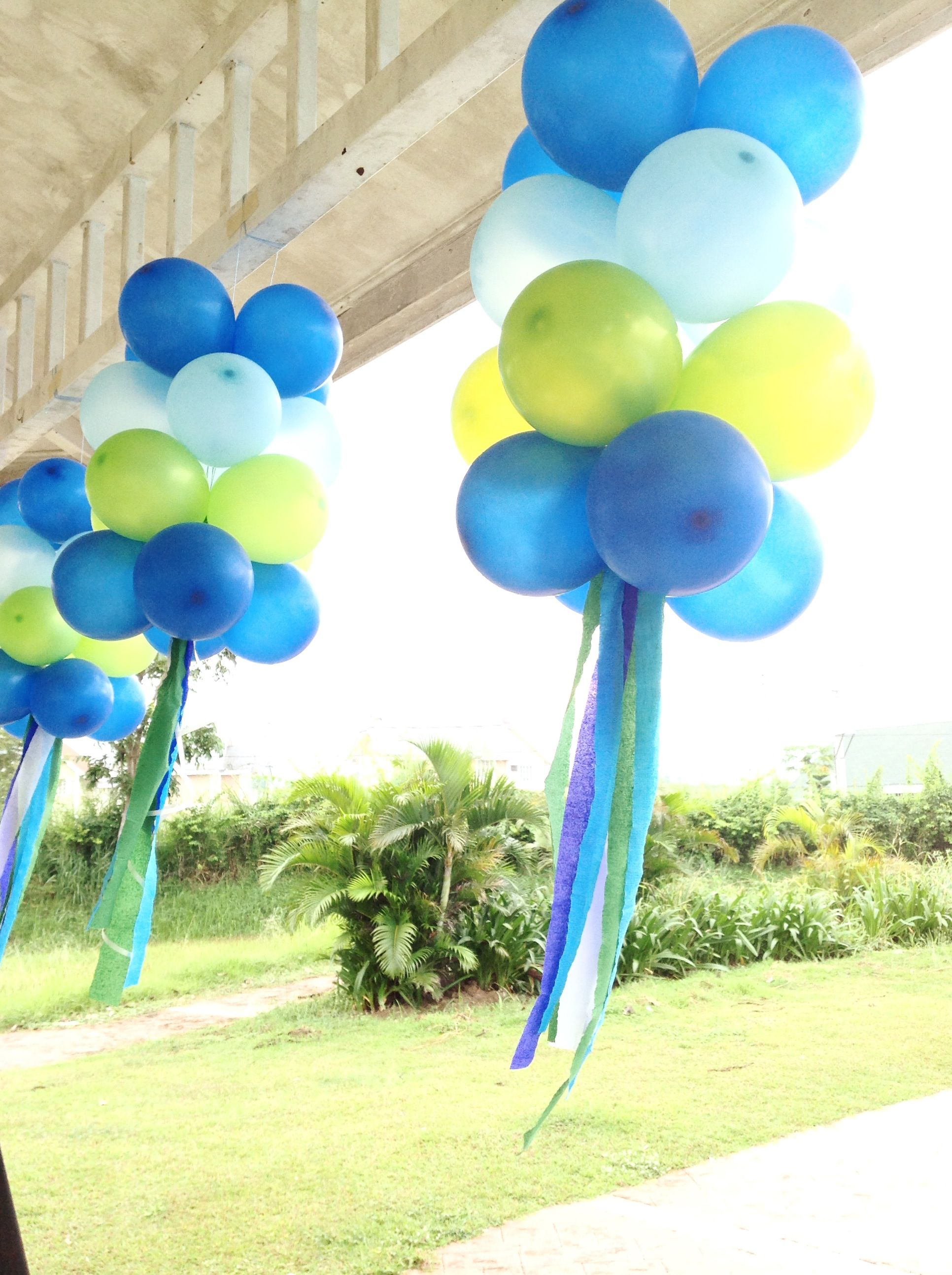 Hanging Balloons Which I Call Jellyfish Hanging Balloons Party Tent Decorations Balloon