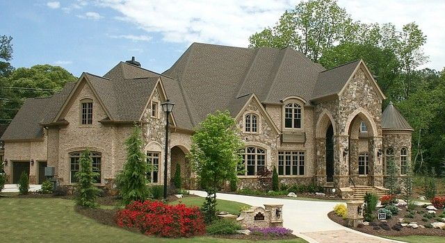 Custom Home Exteriors Model luxury european style homes traditional exterior | house
