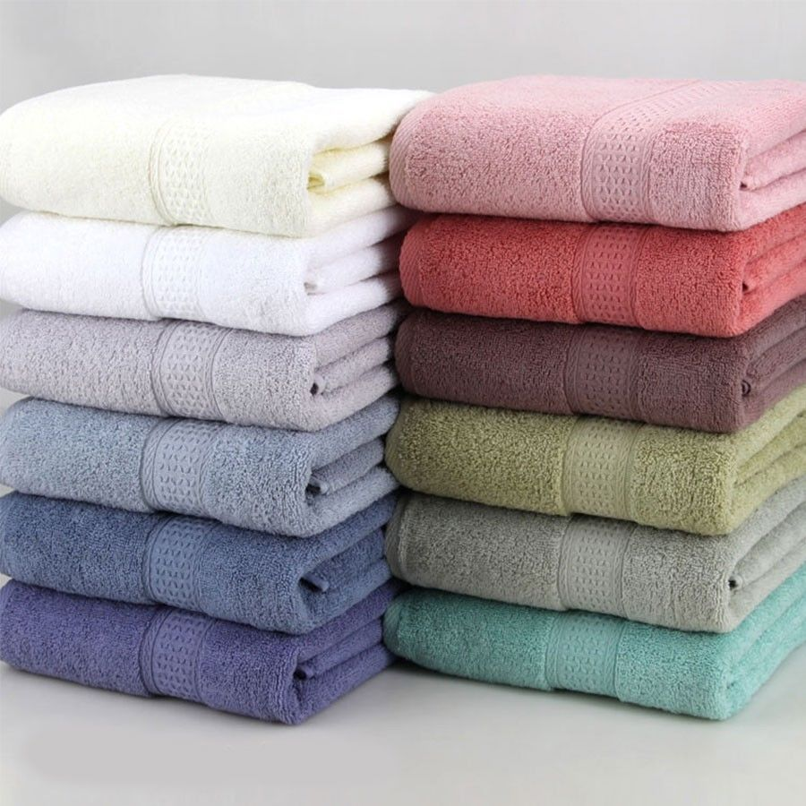 100 Cotton Solid Bath Towel Beach Towel For Adults Fast Drying