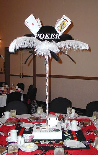 Casino Theme Centerpiece - no sign, but the idea is there