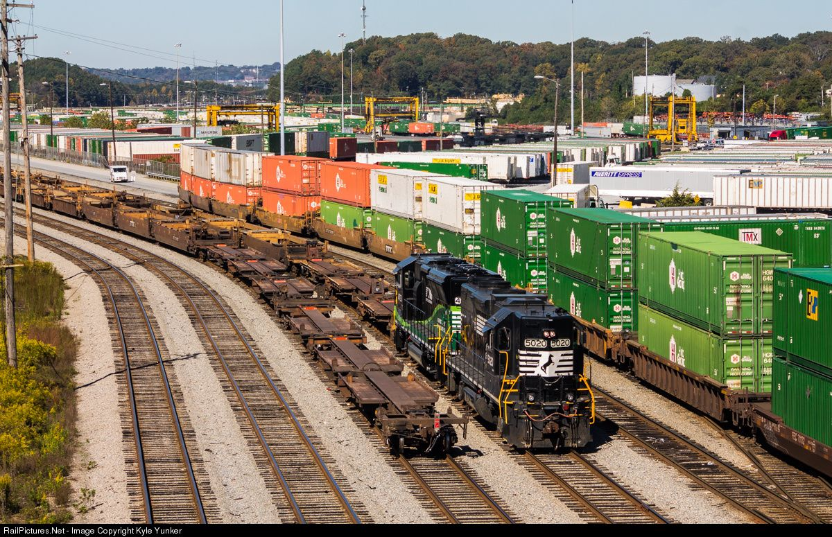 RailPictures Net Photo: NS 5020 Norfolk Southern EMD GP38-2 at