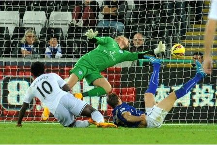 October 25th. 2014: Swansea 2 Leicester City 0 -  Nigel Pearson's men suffer disappointing defeat in Wales with Wilfried Bony scoring a brace.