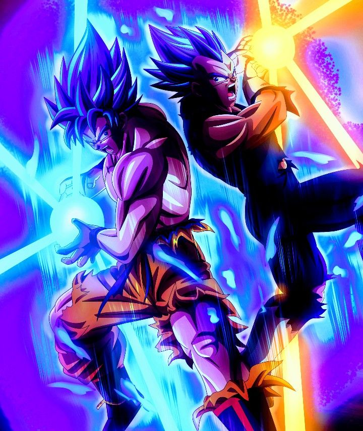 Dragon Ball Super Christmas Wallpaper: Goku & Vegeta Super Saiyan Blue, Dragon Ball Super