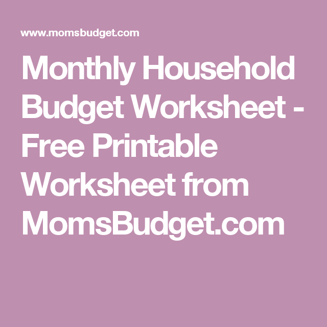 student budget worksheet