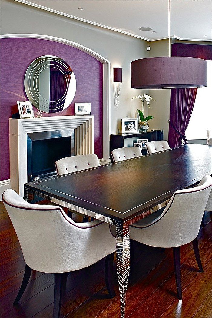 20 Purple Dining Room Ideas Everyone Will Love Pendant lamps