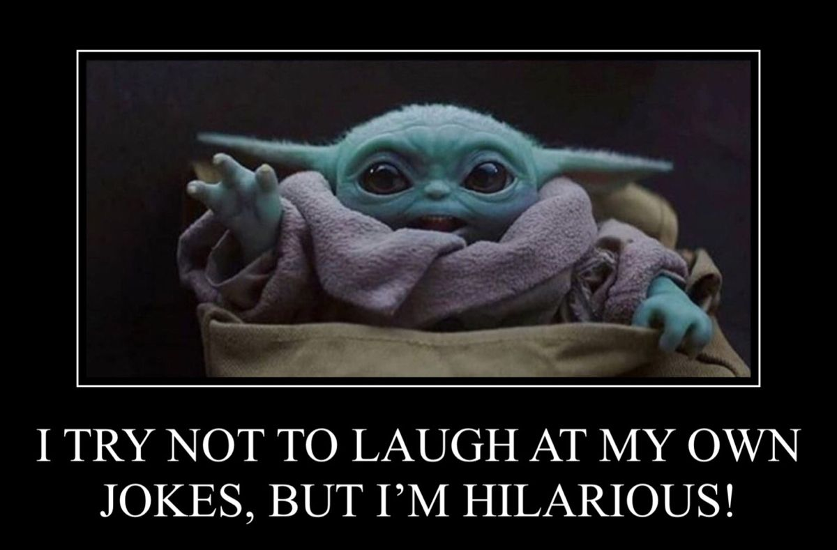 Pin By Stacey Herpel On Baby Yoda Joker Clown Yoda Art Try Not To Laugh