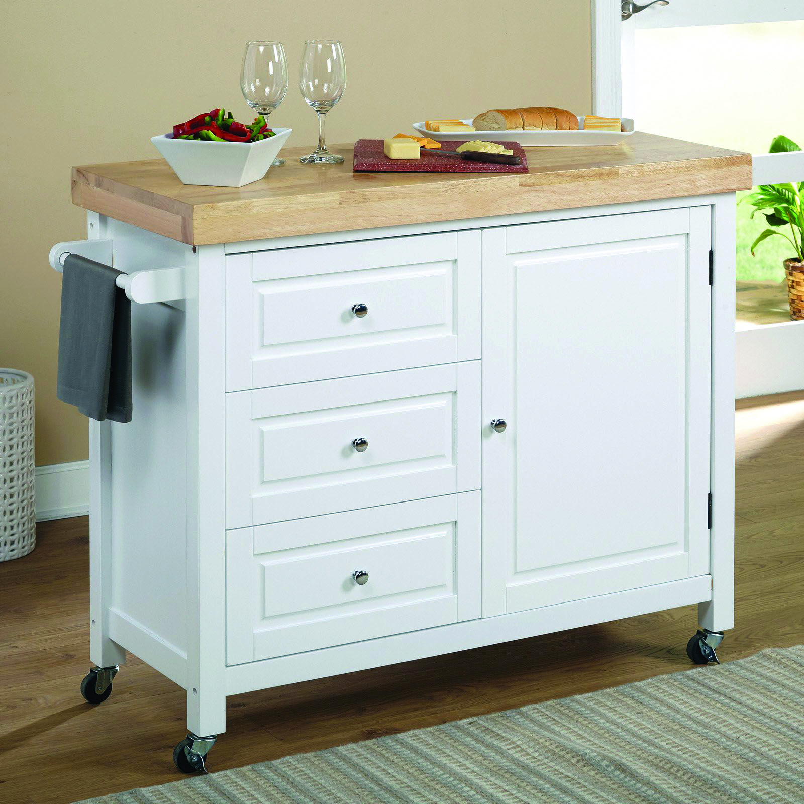 The Greatest Butcher Block Islands Along With Kitchen Area Carts