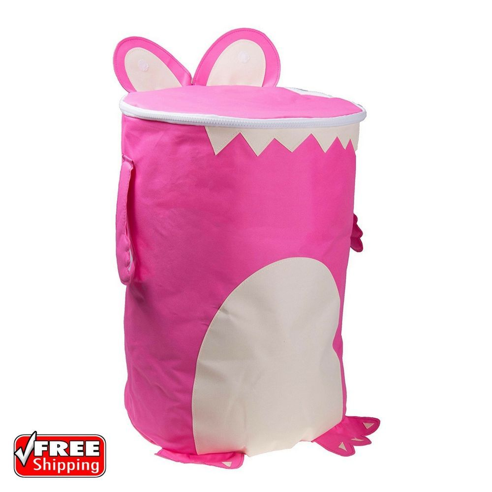 "Pink Plastic Laundry Basket Glamorous 18"" Friendly Monster Laundry Hamper Pink Washing Basket Clothes Decorating Inspiration"