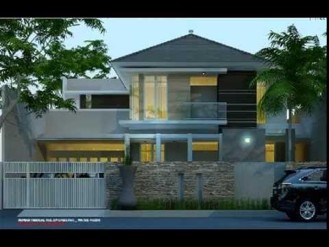 rumah mewah tropis 2 lantai, model fasad rumah elegan