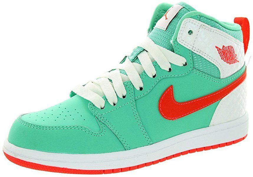 hot sale online 476b5 c197b Amazon.com   Nike Jordan Kids Jordan 1 Retro High GP Verde Infrared White  Basketball Shoe 11 Kids US   Basketball