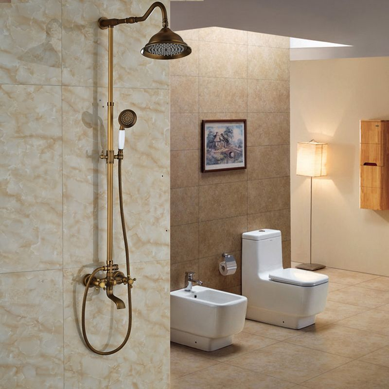 New Promotion High Quality Best Price Antique Brass Bathroom Shower ...