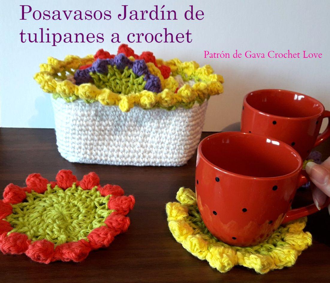 Posavasos a crochet. Patrón gratis | Patrones de crochet en español ...