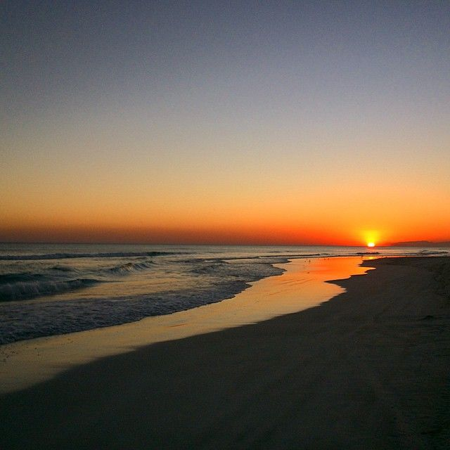 Sunset at Salalah Rotana Resort private beach. Photo by Facebook user:  Kjersti Nerbråten. Thank you Kjersti!