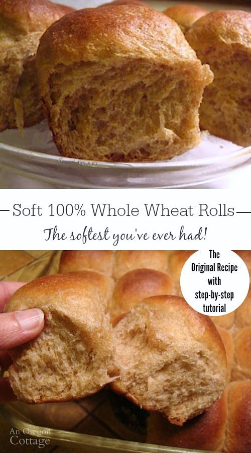 These soft whole wheat rolls are made with 100 whole wheat (and no added…