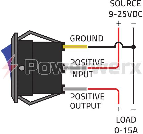 powerwerx panel mount red switch for 12v systems  solar