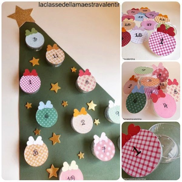 Come fare calendario dellAvvento riciclando le scatoline dei formaggini tutorial diy christmas handmade