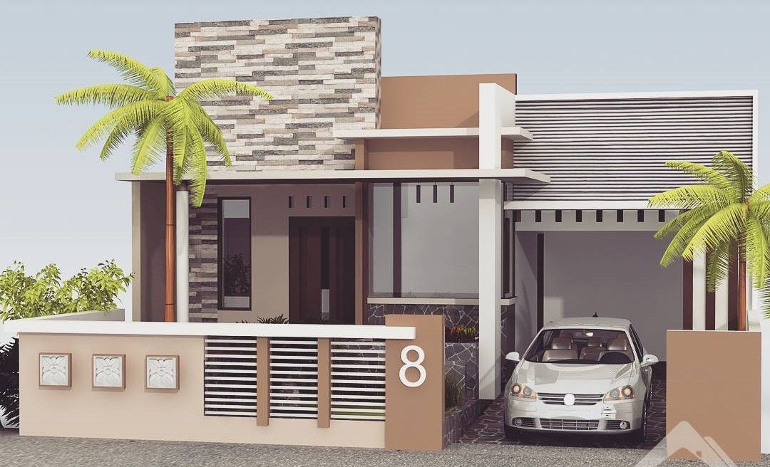 Desain Pagar Rumah Minimalis Building ElevationHouse ElevationModern