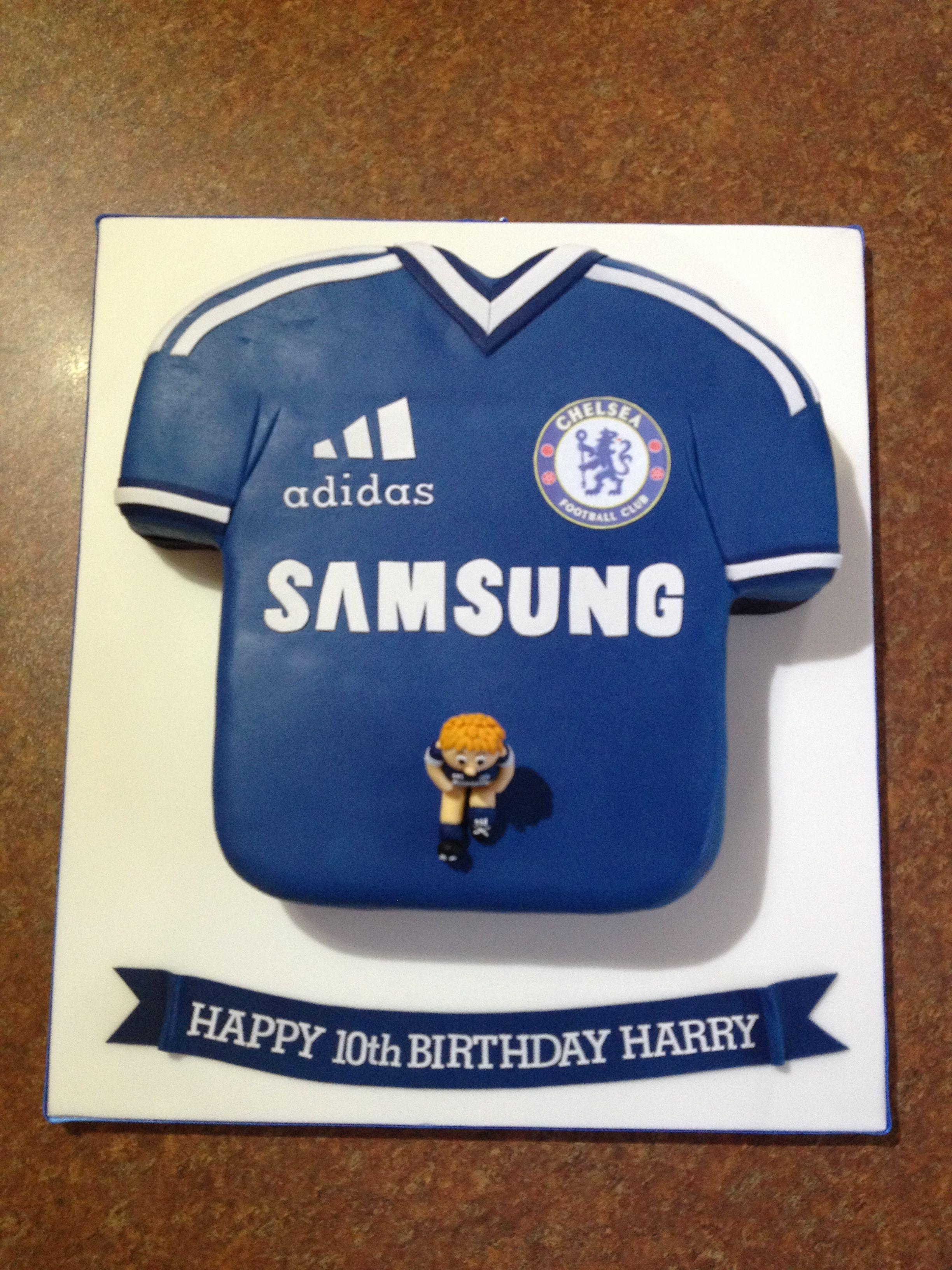 8f477cd20 Chelsea football shirt cake