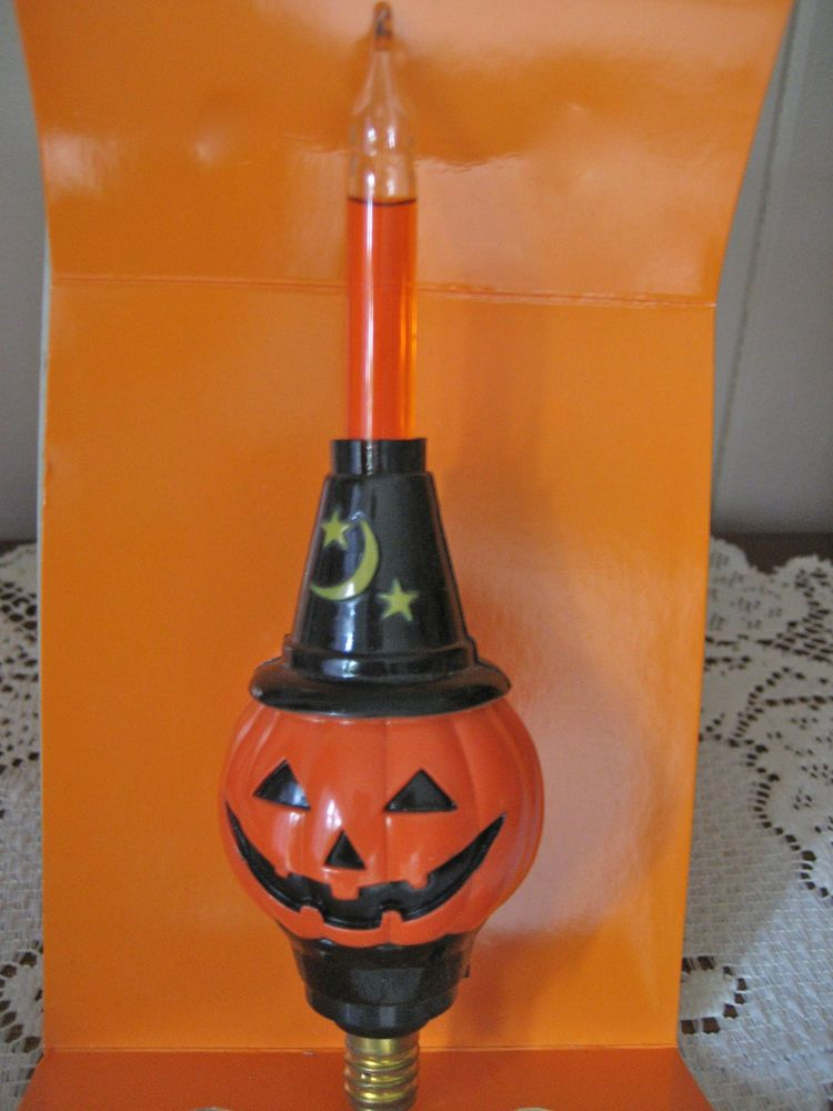 Christopher Radko Shiny Brite Halloween Pumpkin Bubble Light