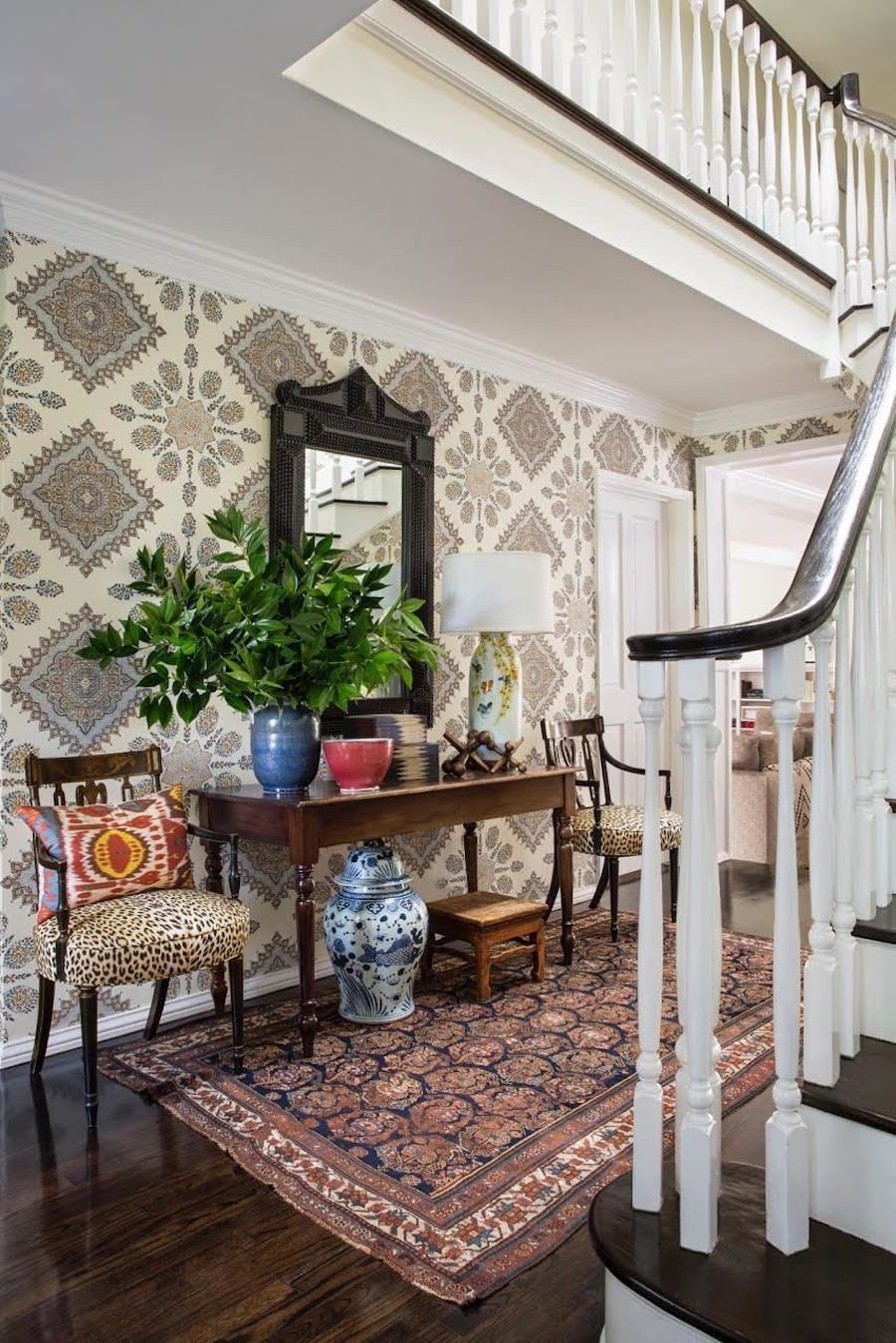 Entry hallway furniture  How to Style an Entryway  Burnham Entry hallway and Traditional decor