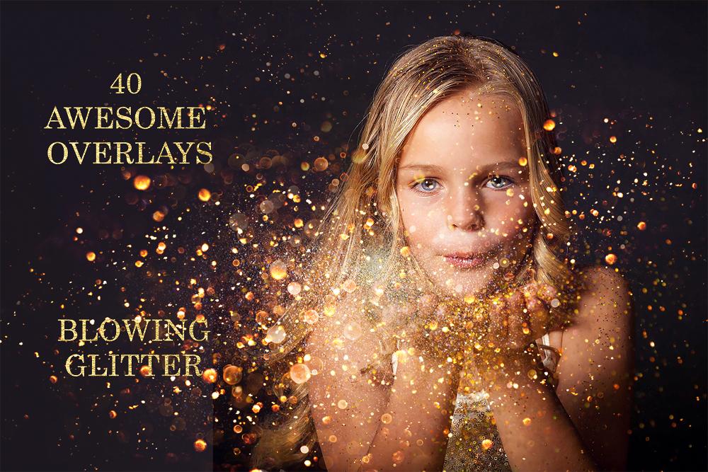 40 Blowing Glitter Photoshop Overlays Confetti Photoshop Overlay Filtergrade Photoshop Overlays Blowing Glitter Photo Overlays