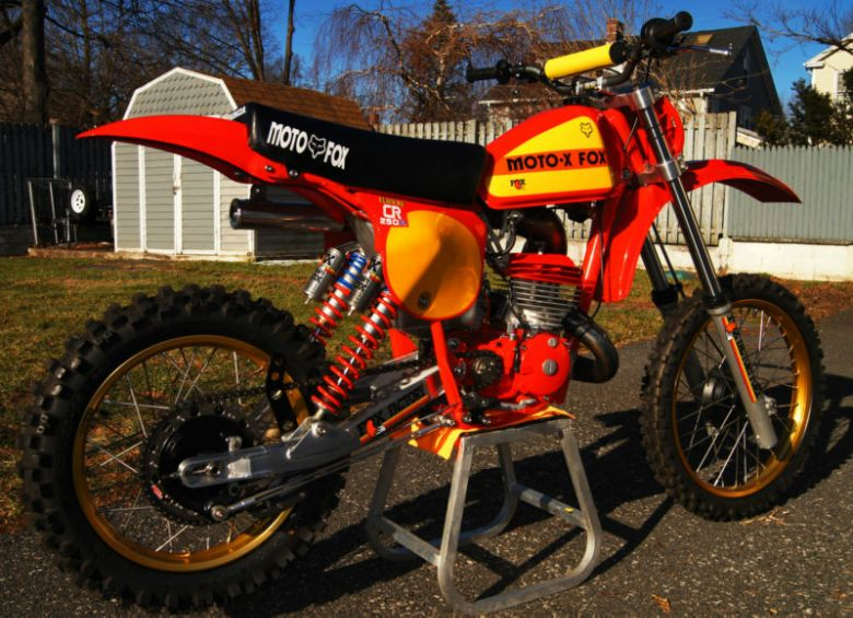 1978 Honda Cr250r Elsinore Moto X Fox Works Bike Honda Motocross