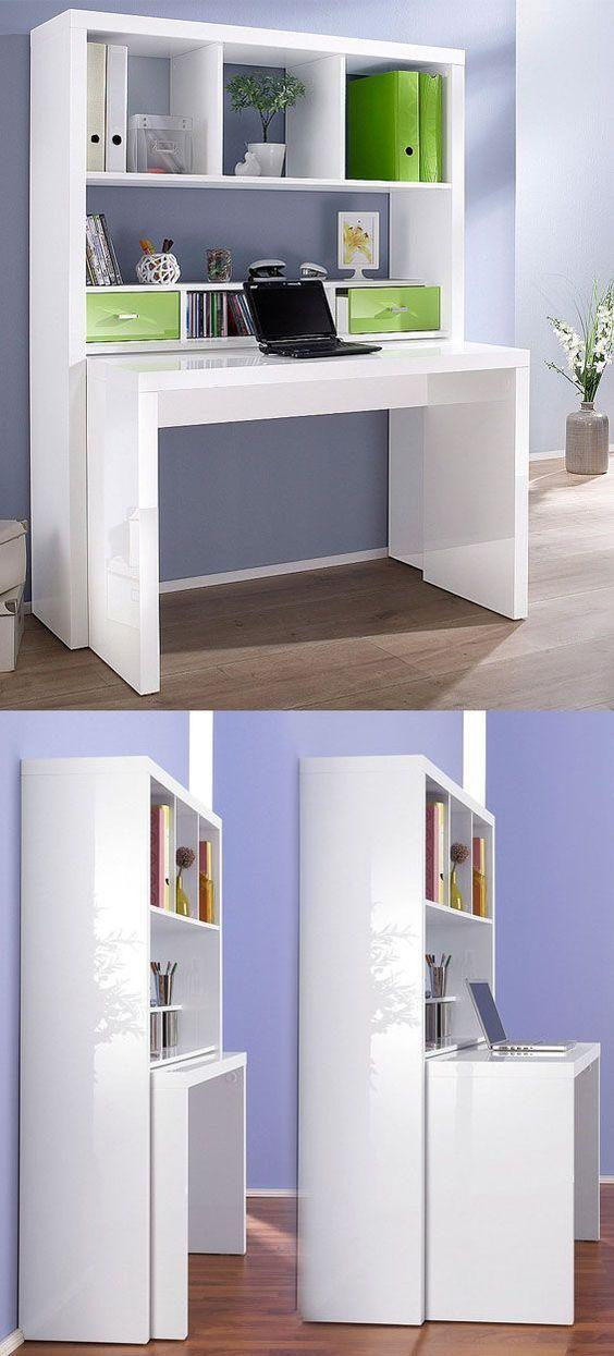 praktisches regal mit ausziehbarem schreibtisch kinderzimmer pinterest schreibtische. Black Bedroom Furniture Sets. Home Design Ideas